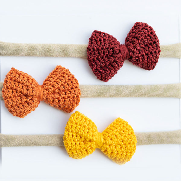 Fall Crochet Bows and Headband