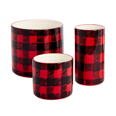 Flannel Christmas Pot