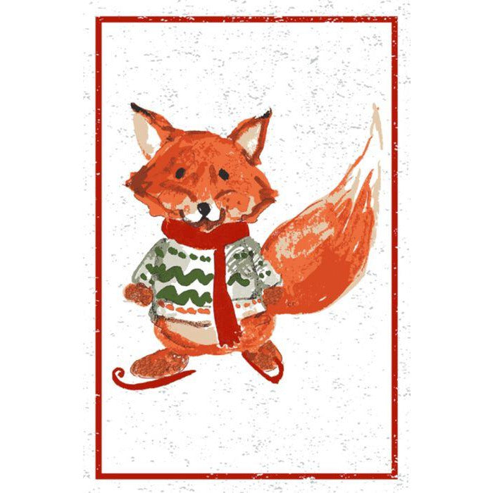 Red Fox Tea Towel
