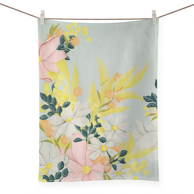 Flower Market Tea Towel