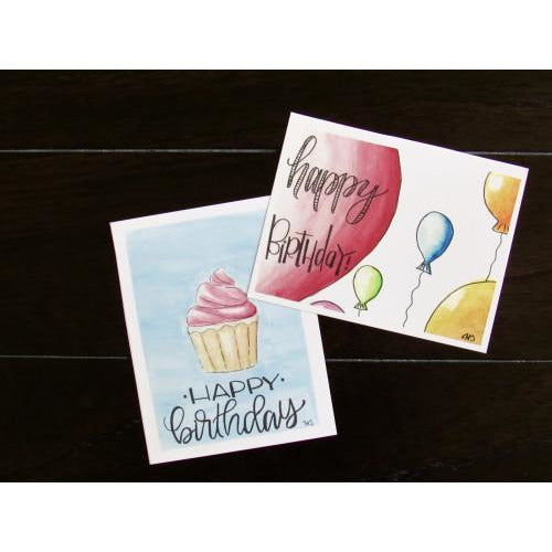 Happy Birthday Cupcake Card By Hallie Darling
