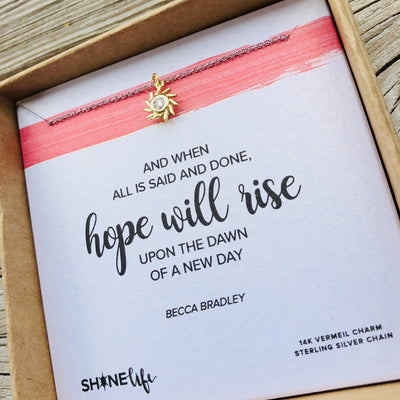"""Hope will rise"" Necklace"