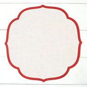 Red Swiss Dot Placemat