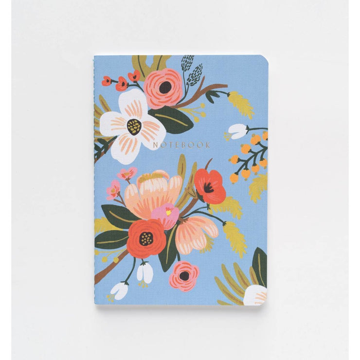 Lively Floral Notebooks Pack of 3