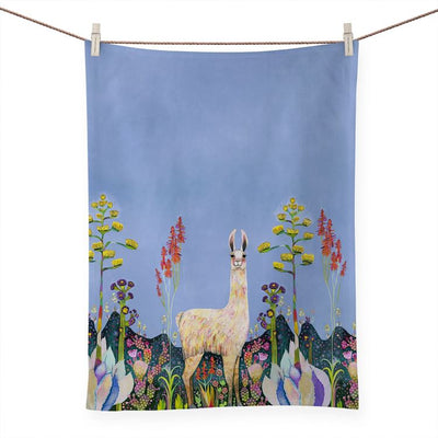 Llama Llama Tall Girl Tea Towel