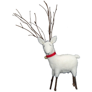 Christmas Deer with Twig Antlers