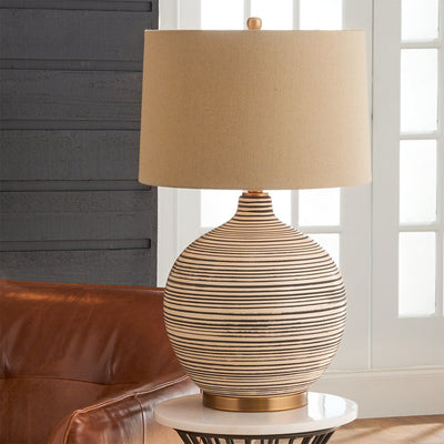Ceramic Textured Table Lamp