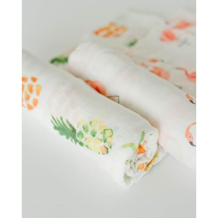 Pink Ladies Deluxe Muslin Swaddle Set