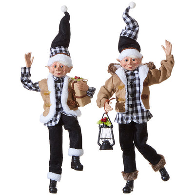 Christmas Elves-Black Plaid