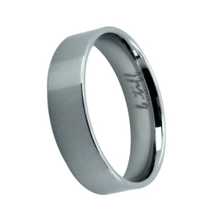 Wide Simple Stainless Steel Ring