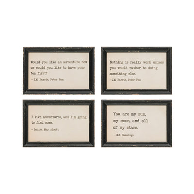 Wood Wall Decor With Sayings (4 Styles)