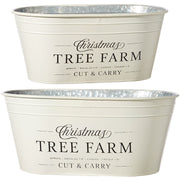 Tree Farm Christmas Buckets