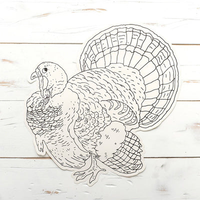 Turkey - Coloring Placemat