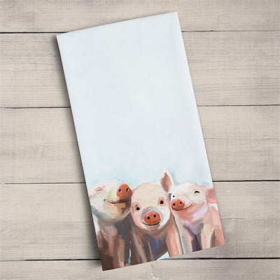 Three Little Piggies Tea Towel