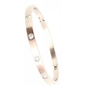Thin Pavé Row Bangle