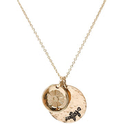 Round Necklace Wifey Accent Charm - Gold