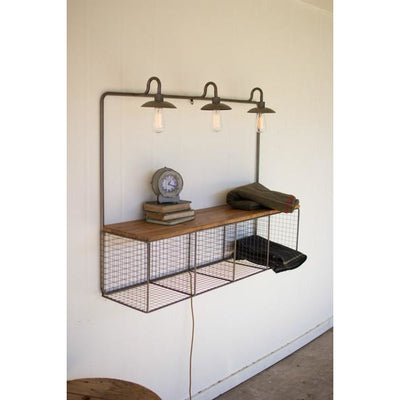 Wire Cubby with Lights