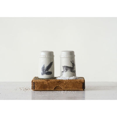 Woodland Salt and Pepper Shakers