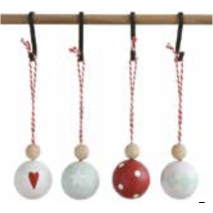 Wooden Ball Ornament