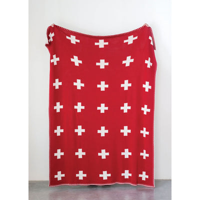 Swiss knit throw