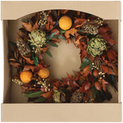 Christmas Round Dried Leaves Wreaths