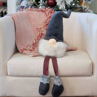 Large Grey gnome with Dangle Legs