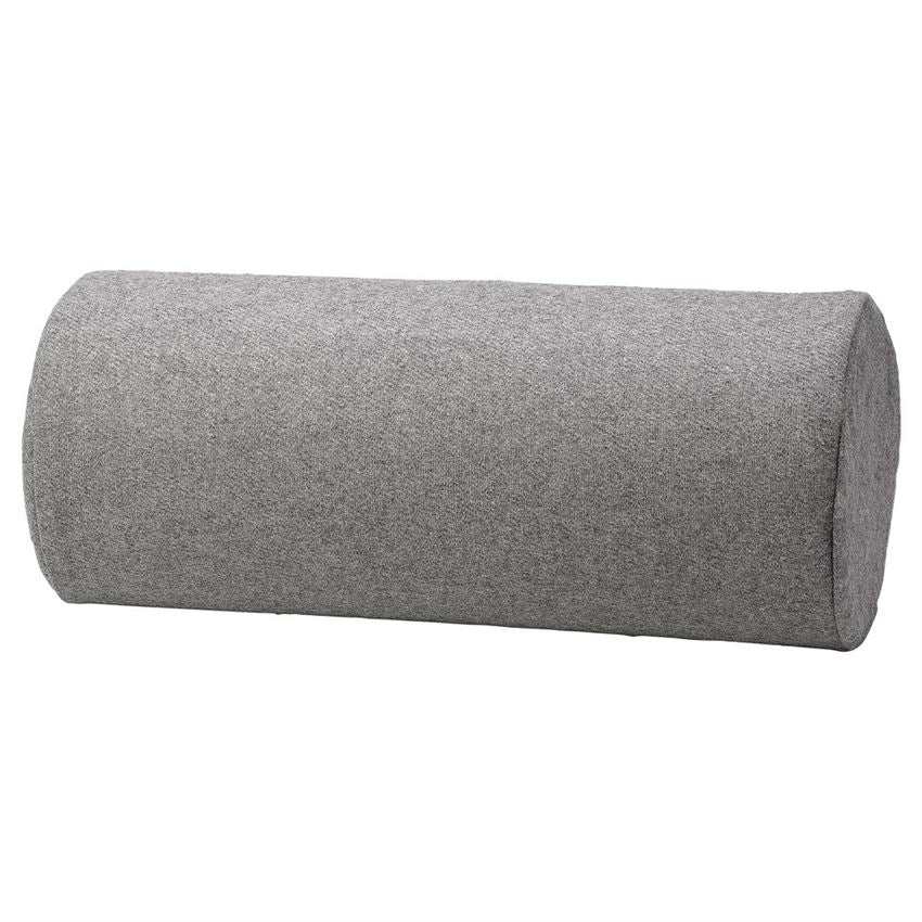 Grey Bolster Pillow with Gold Zipper