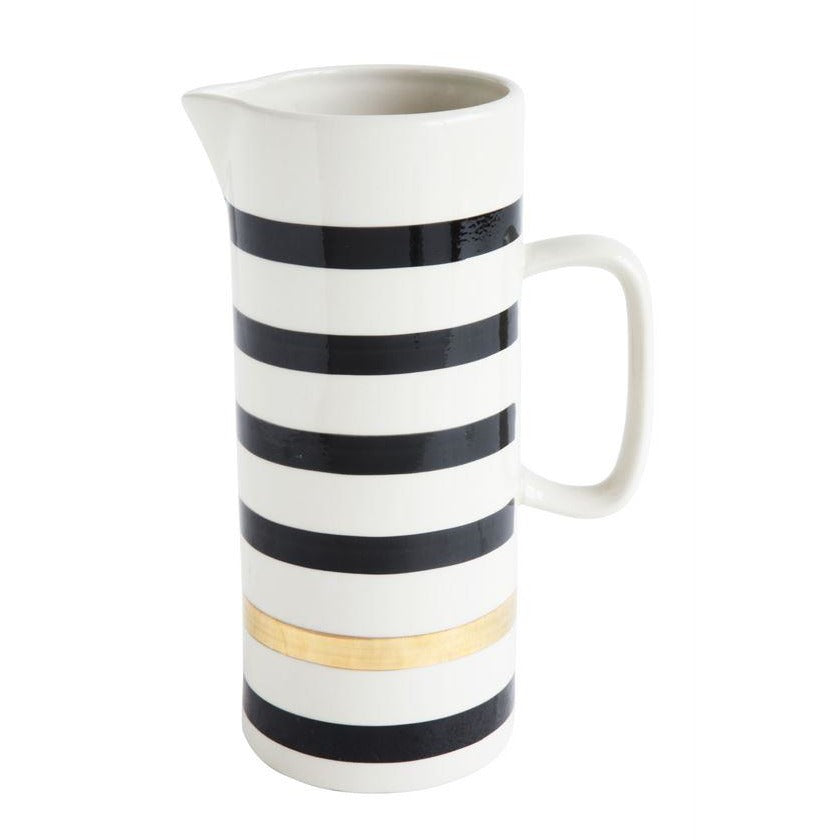 Striped Stoneware Pitcher