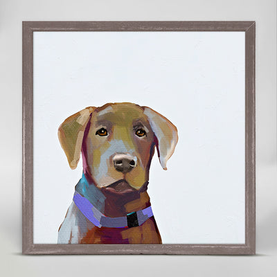 Best Friend - Brown Lab Mini Framed Canvas