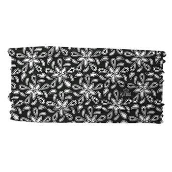 Thin Headband-black & white floral