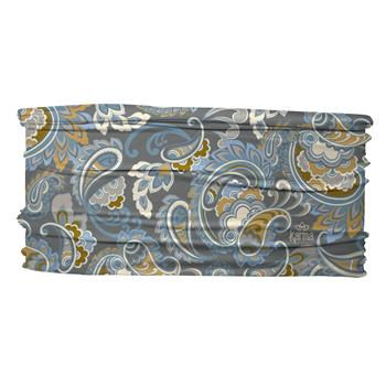 Thin Headband-Blue Paisley