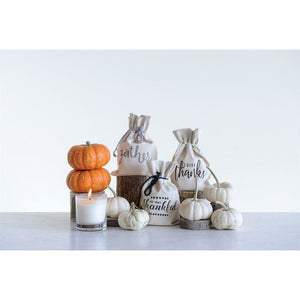 Orange Clove Candle in Fall Cotton Bag
