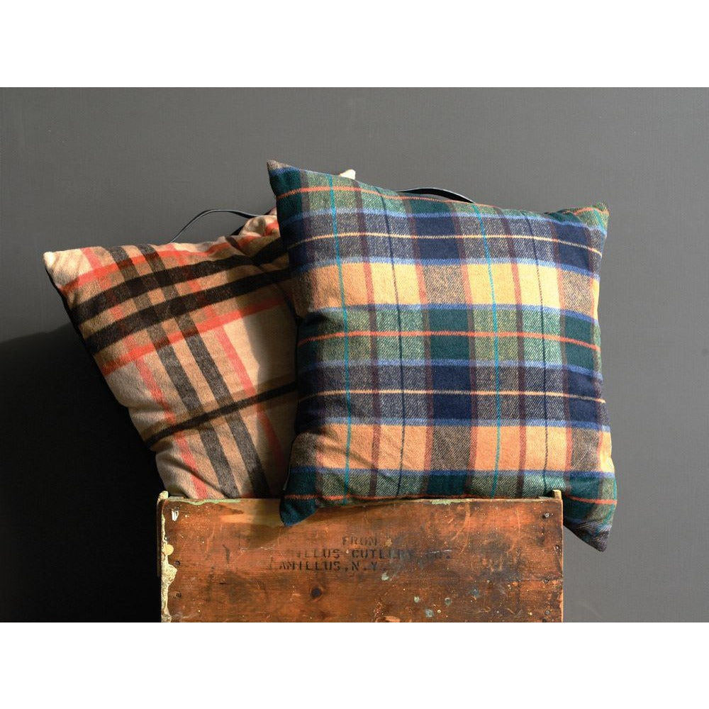 Plaid Fabric Pillow
