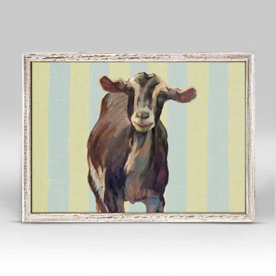 Mini Art Display Contemporary Goat Mini Framed Canvas