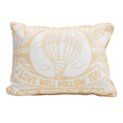 """Enormous Love Will Follow You"" Lumbar Pillow"