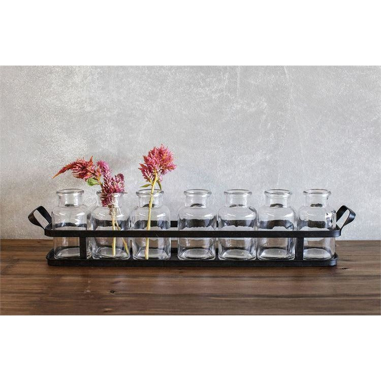 Glass Bottles with Tray