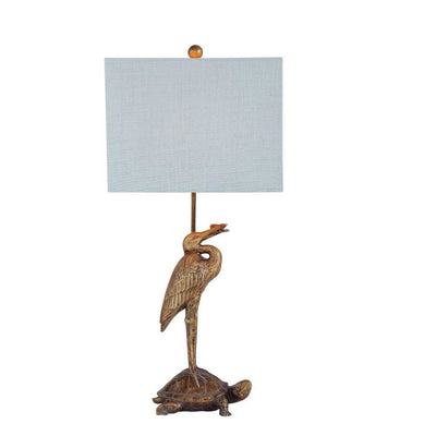 Stork and Turtle Table Lamp