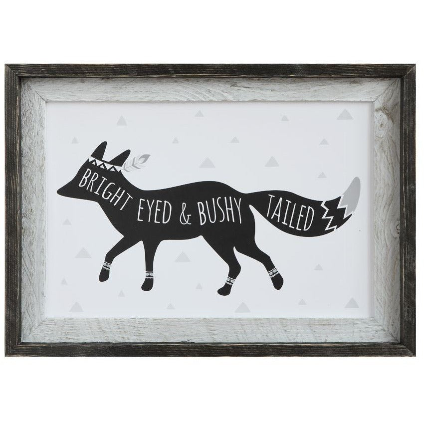 """Bright Eyed & Bushy Tailed"" Wall Decor"