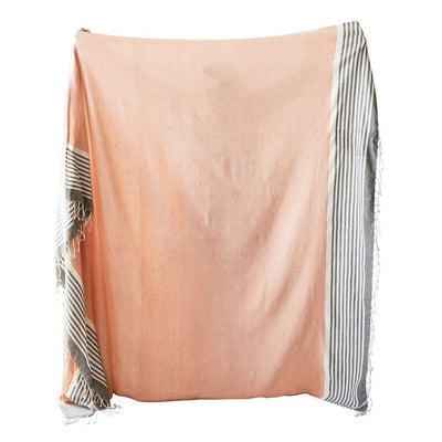 Orange Fringe Tablecloth or Throw