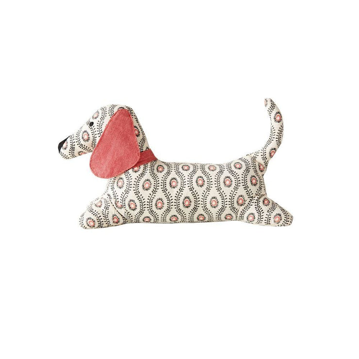 Pink Cotton Dog Doorstop