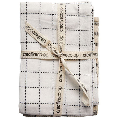 Black and White Tea Towel Set