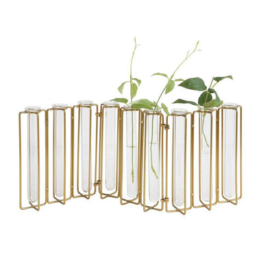 Vase - Metal and Glass Jointed (9 Test Tubes)