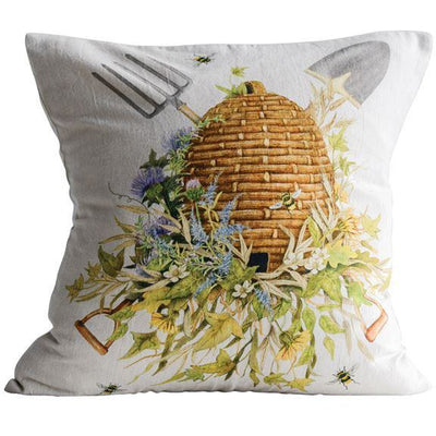 Beehive Cotton Pillow