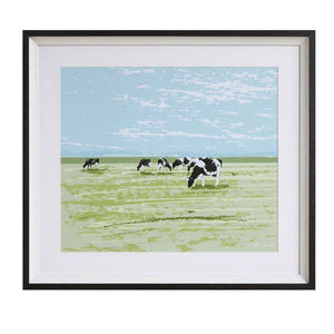 Cow's Grazing Wall Decor
