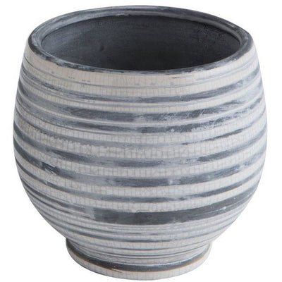 Grey Stoneware Planter