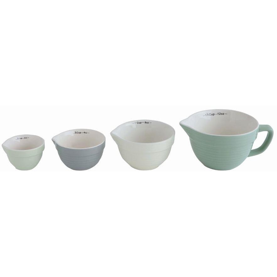 Aqua Batter Bowl Shaped Measuring Cups