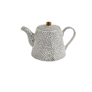 Black and White Polka Dot Tea Pot