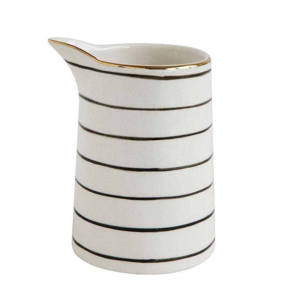Black and White Creamer With Gold Rim