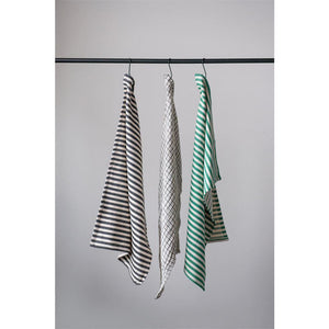 Black, White, and Green Tea Towel Set