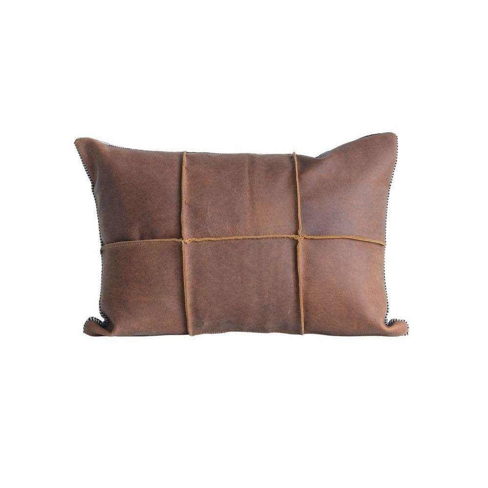 Dark Leather Pillow